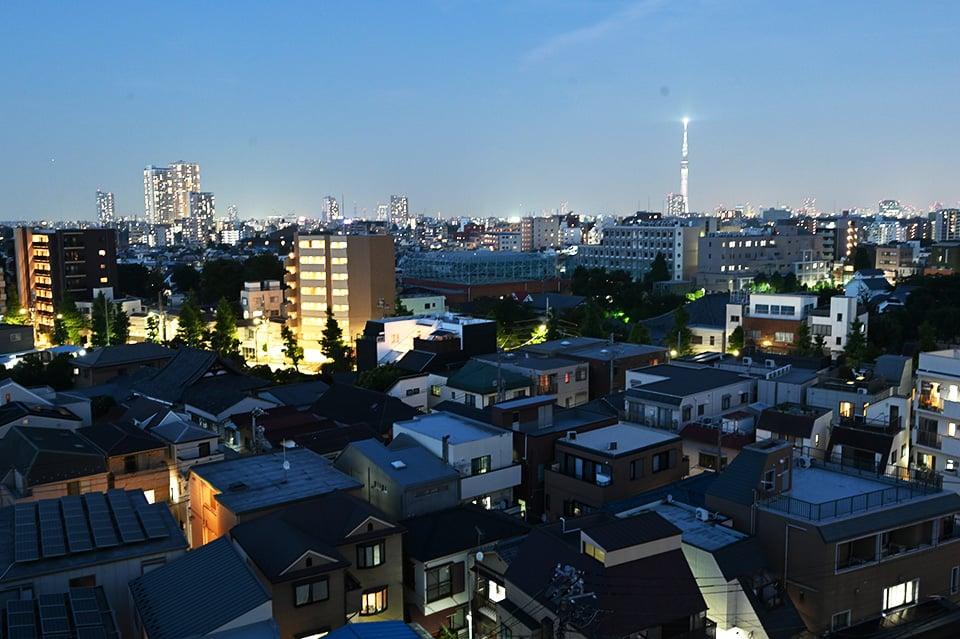 本駒込の夜景