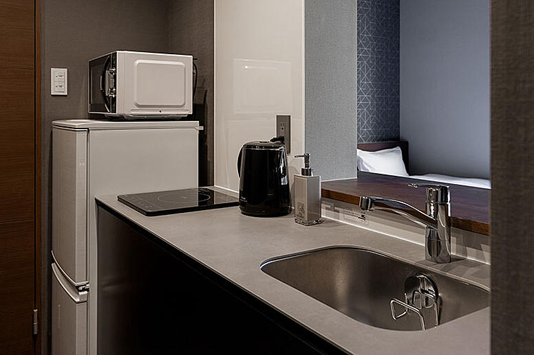 客室Aのキッチン