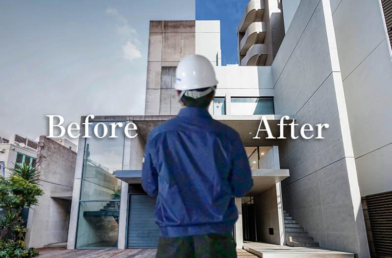 安心の工事サポートとアフターサービスイメージ