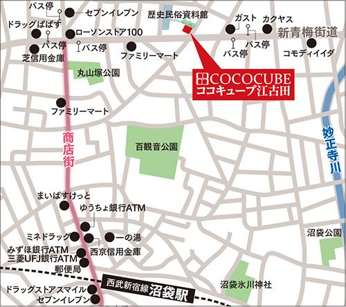 ココキューブ江古田詳細マップ