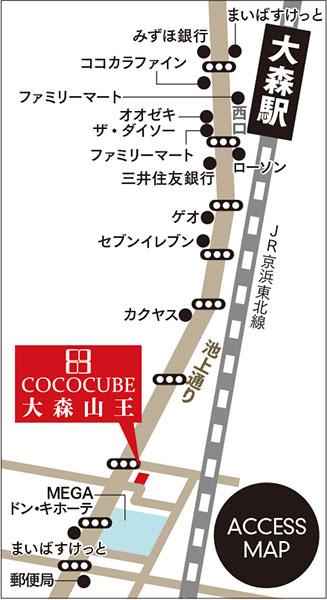 ココキューブ大森山王詳細マップ