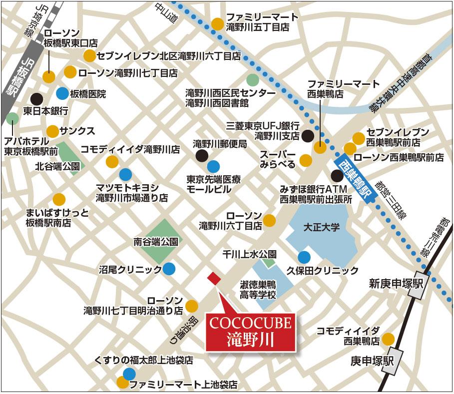 ココキューブ滝野川詳細マップ