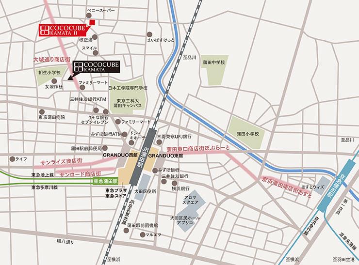 ココキューブ蒲田Ⅱ詳細マップ