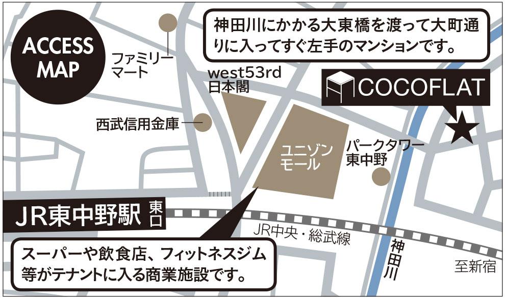 ココフラット東中野詳細マップ