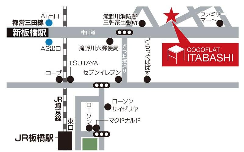 ココフラット板橋詳細マップ