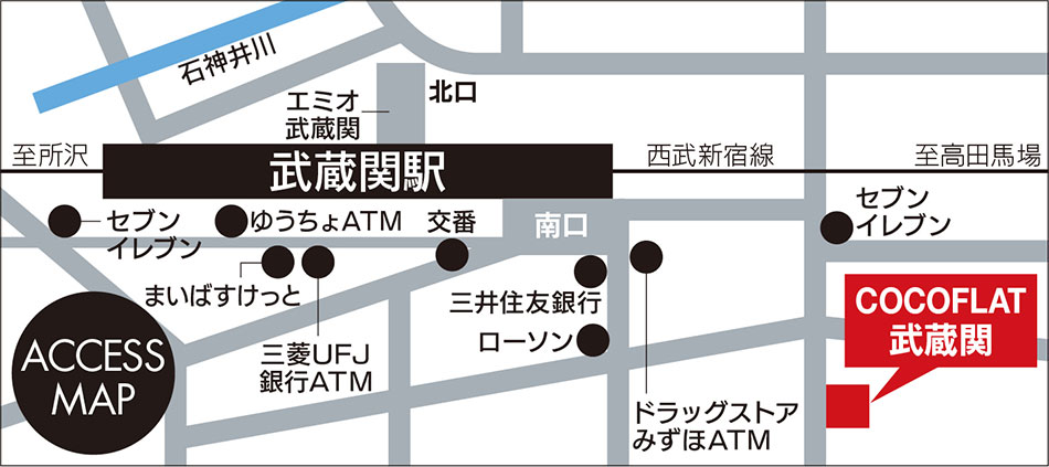 ココフラット武蔵関詳細マップ
